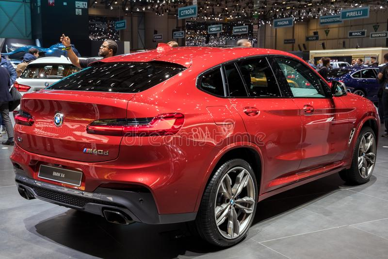 2018 BMW X4 M40d SUV car stock photo