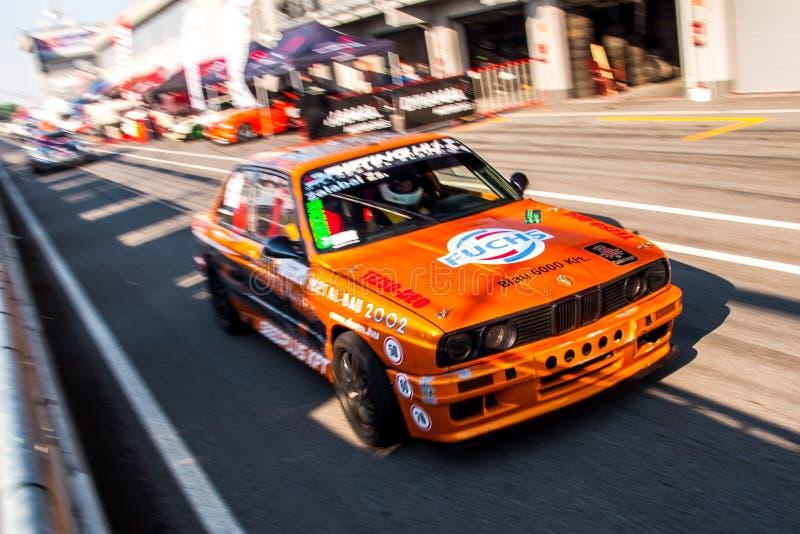 BMW M3 drift car royalty free stock photos