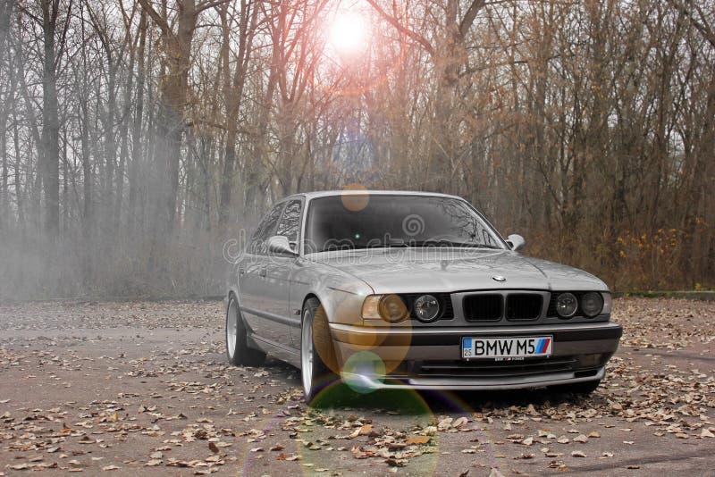 Chernigov, Ukraine - November 8, 2017. BMW M5 E34 with the numbers `BMW M5`. BMW M5 E34 with the numbers `BMW M5 stock image