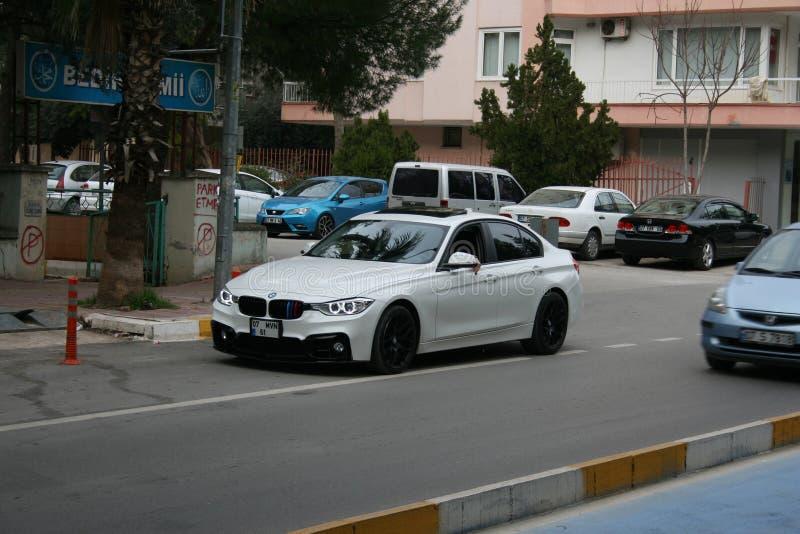 BMW M3 F80 i Antalya gator arkivbild
