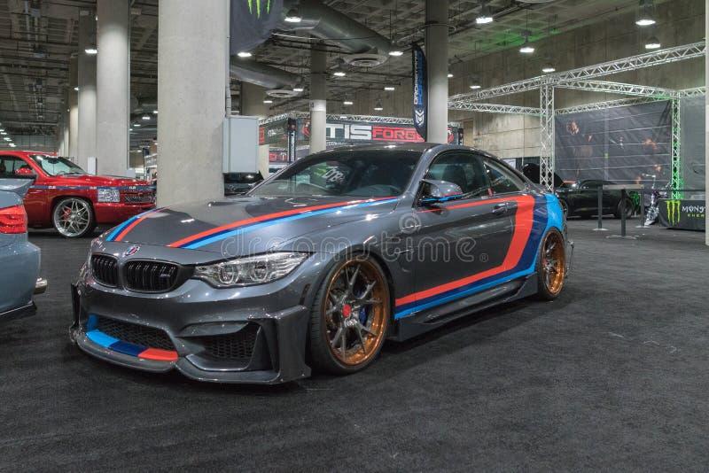 BMW M3 na exposição durante a feira automóvel do LA fotos de stock