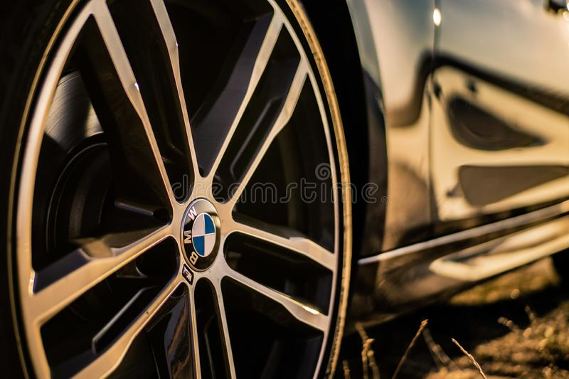 BMW Rim. A close-up of a BMW M Rim at sunset royalty free stock photography