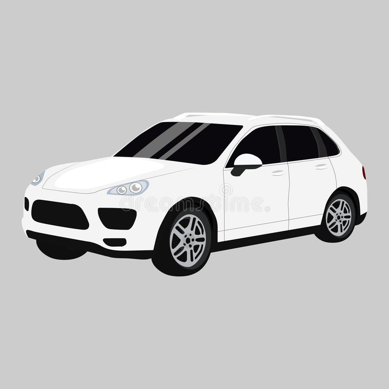 2011, BMW M3 Sedan vector icon on a grey background. Suv illustration isolated on grey. Automobile realistic style vector illustration