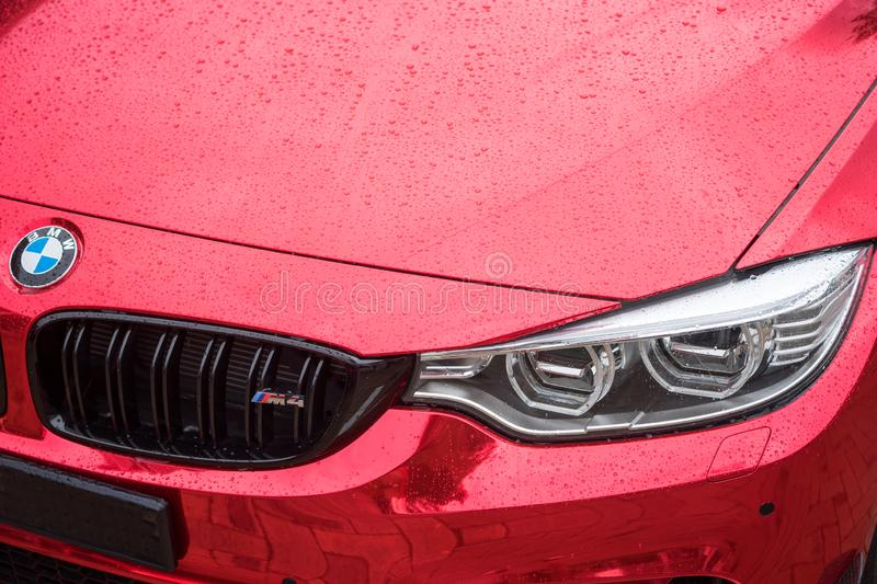 BMW M4 Sports Car stock images
