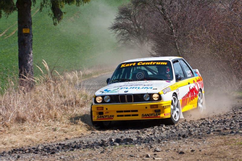 BMW M3 in actie stock foto