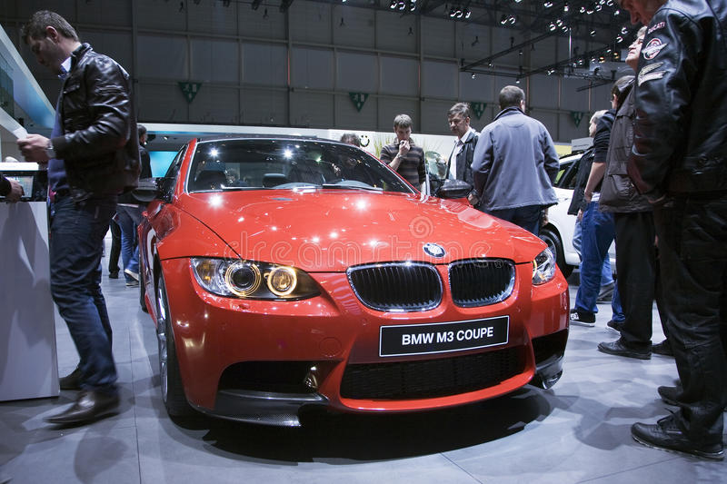 BMW M3 Coupe. At the 2011 Geneva Motor Show. Photo taken on: March 04th, 2011 royalty free stock photography