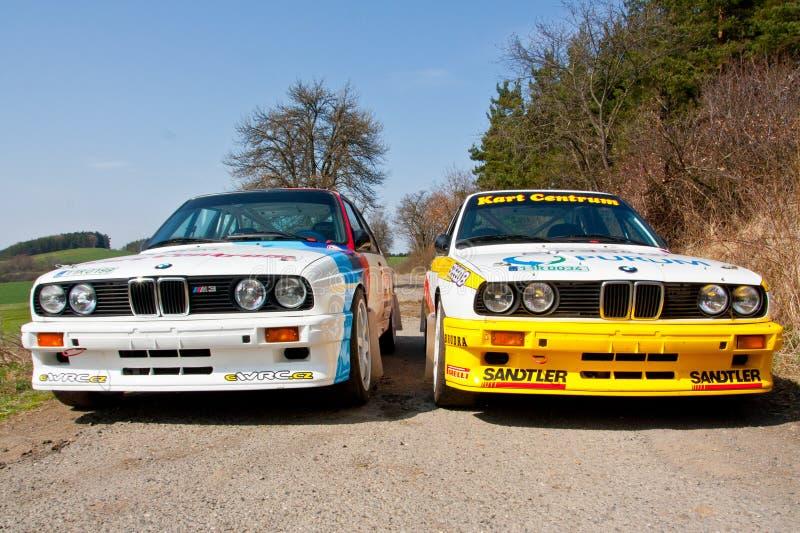 BMW M3 nell'azione fotografie stock