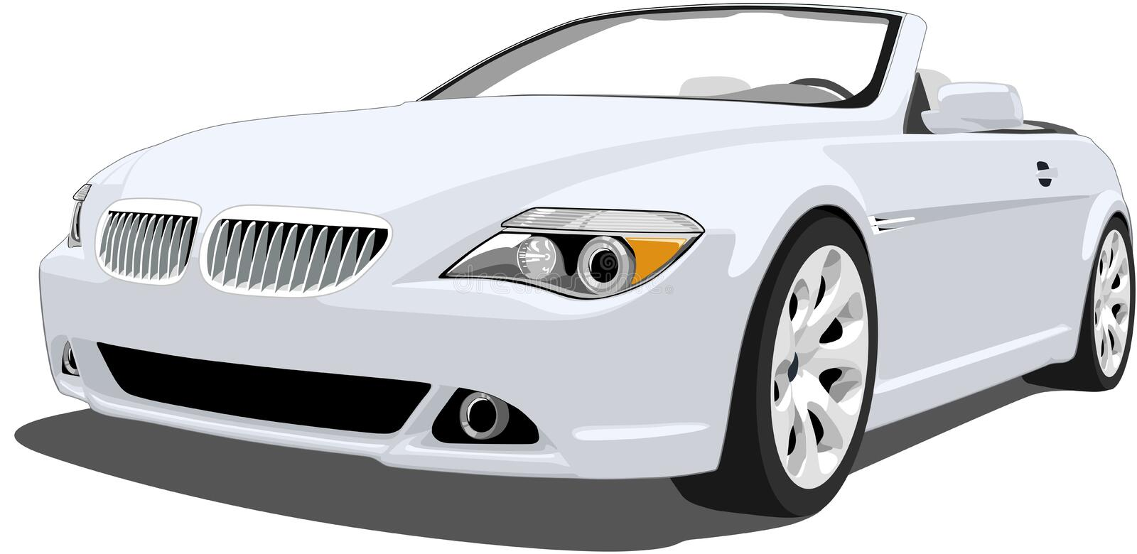 Bmw M6 Convertible. A Vector . eps illustration of a BMW M6 Convertible. Saved in layers for easy editing. See my portfolio for more automotive images royalty free illustration