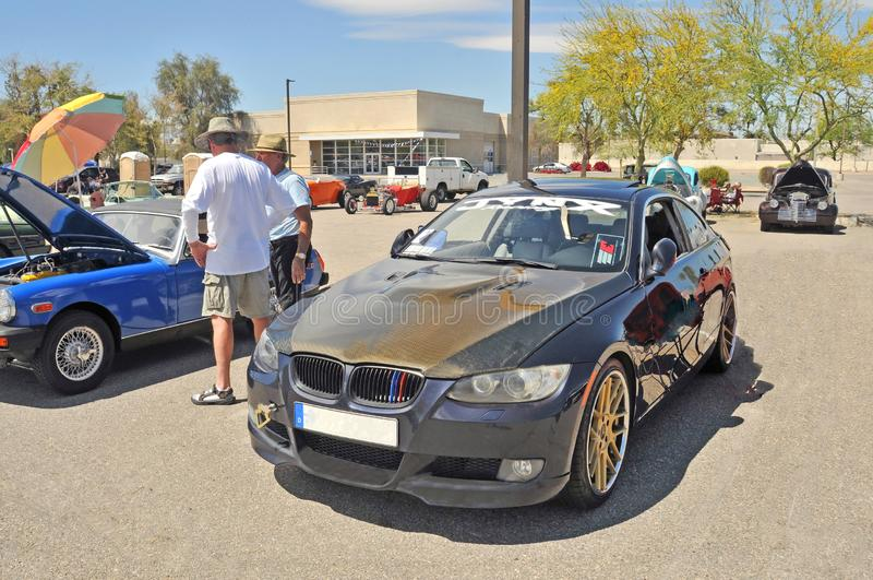 BMW magnífico que compete o sedan foto de stock royalty free