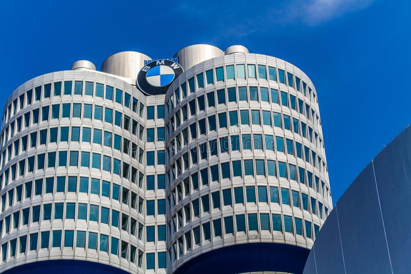 BMW-Museum in München royalty-vrije stock afbeelding