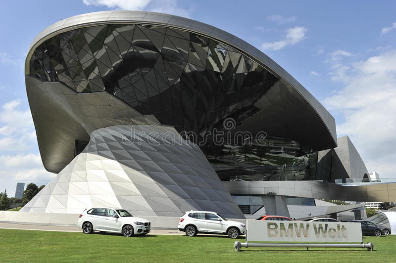 BMW Museum, Munich, Germany. The extravagant building of the BMW Museum in Munich, Bavaria, South-Germany stock photography