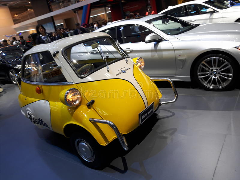 BMW-Oldtimer (Isetta) lizenzfreies stockbild