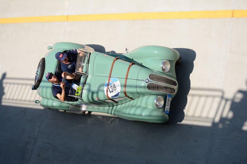 BMW 1939 328 på Mille Miglia arkivfoton