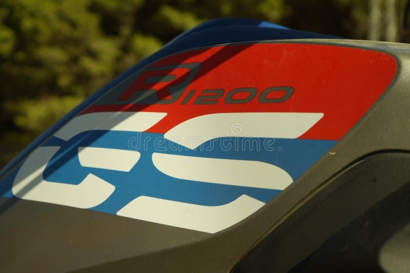 BMW R1200GS bergaf royalty-vrije stock foto