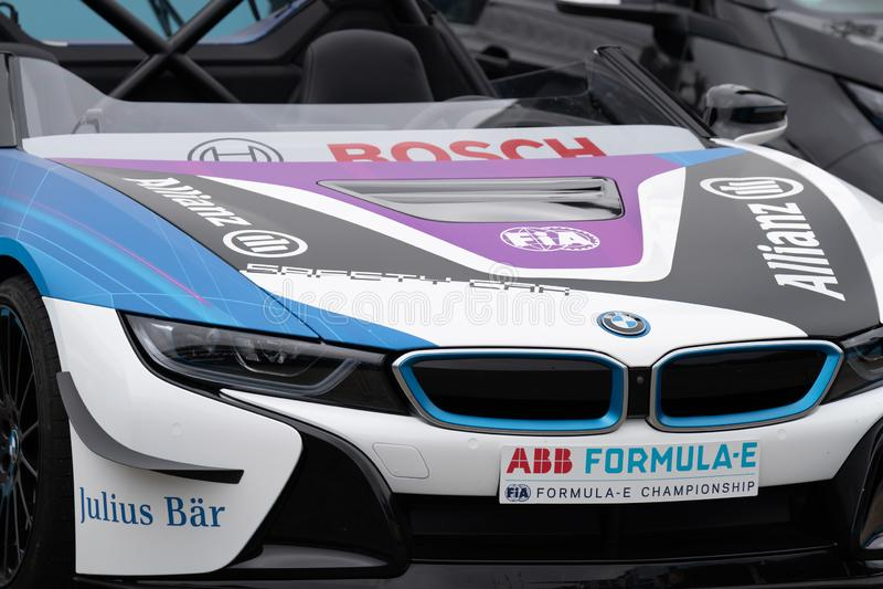 BMW-Raceauto stock foto's