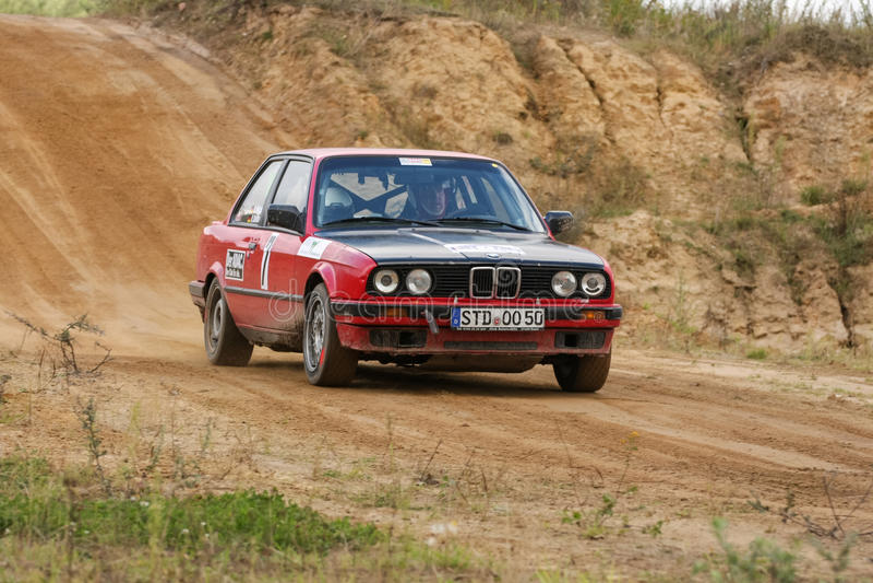 BMW Rallye汽车 编辑类库存照片