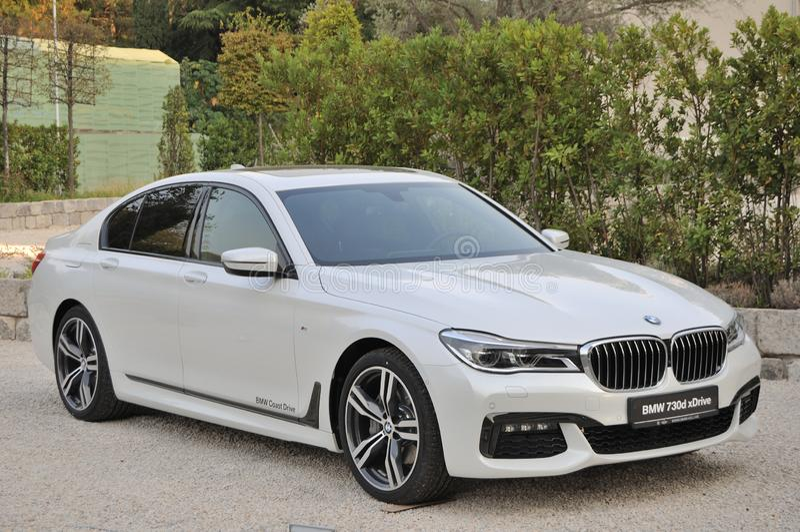 BMW samochód 730D xDrive obrazy royalty free