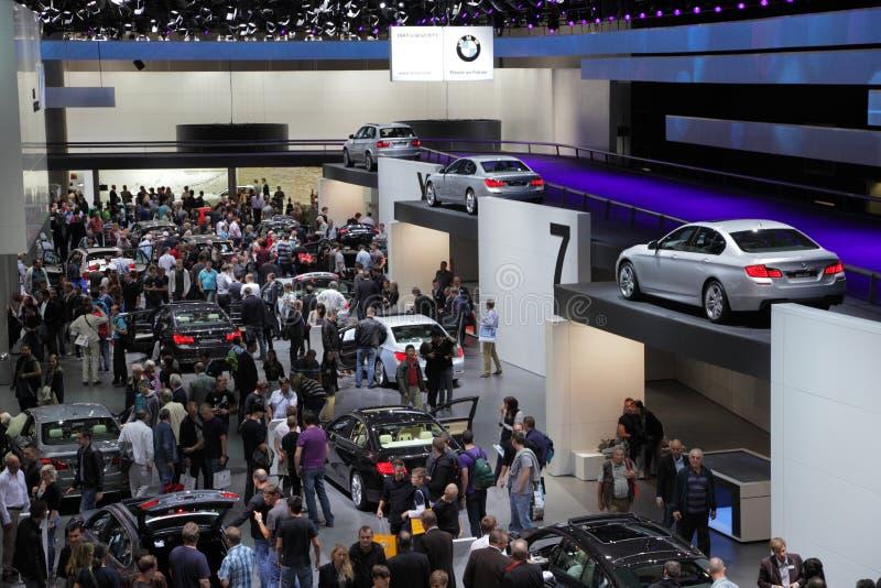 BMW se coloca en el IAA imagenes de archivo