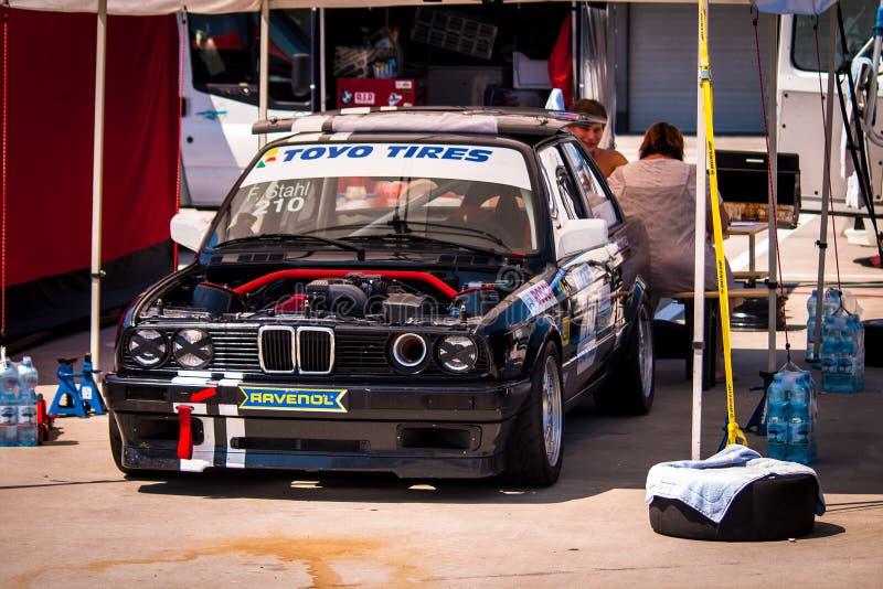BMW 3 series racing car royalty free stock image