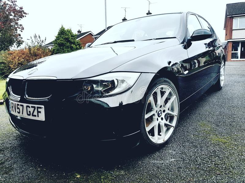 Bmw 3sieries polished and clean stock photos