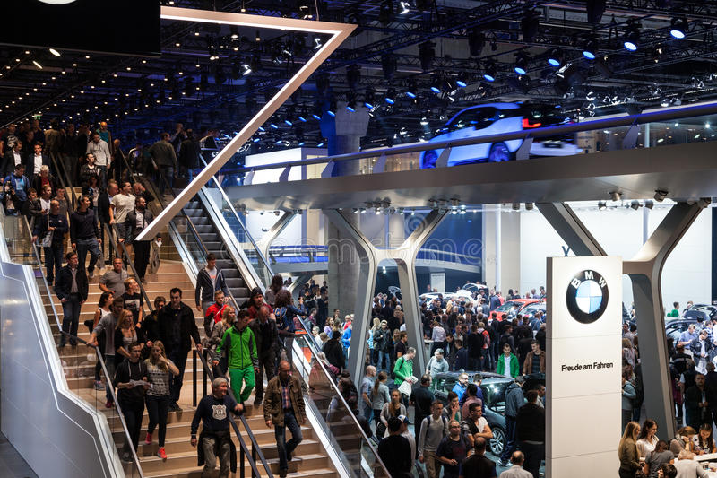 BMW stand at the IAA 2015 in Frankfurt Main royalty free stock photos