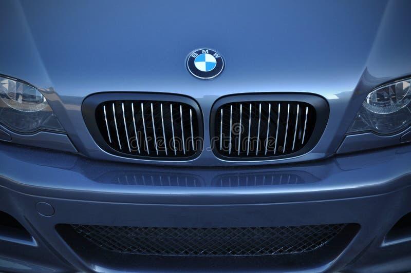 Close Up BMW Logo. Chrome Metal