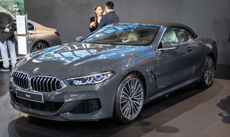 BMW the 8 on 54th Belgrade international car and motor show. royalty free stock photos