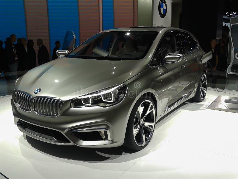 BMW Tourer Aktywnego pojęcia hybrydowy samochód zdjęcie royalty free