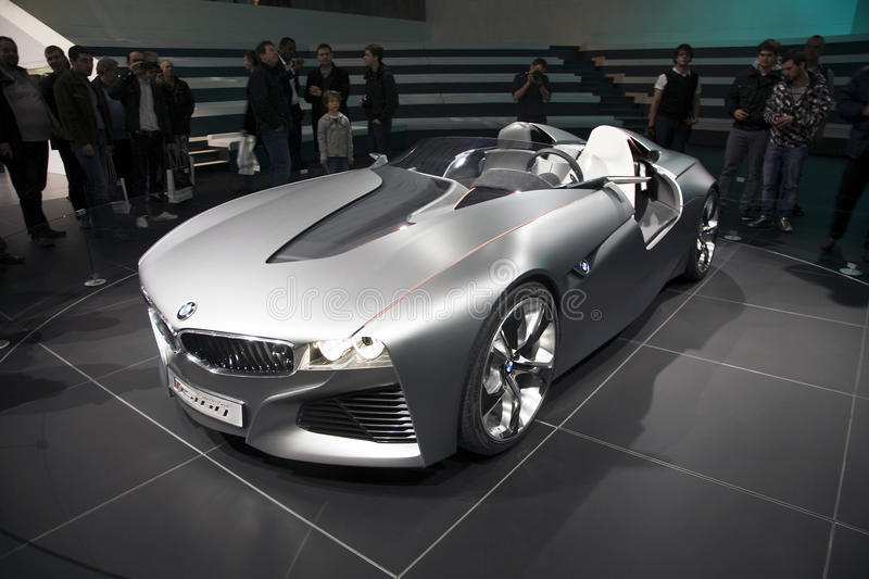 BMW Vision Connected Drive Concept car. World premiere of the BMW Vision Connected Drive car at the 2011 Geneva Motor Show. It uses fiber optics to communicate royalty free stock photo
