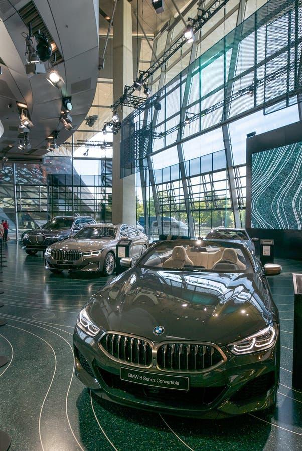 BMW-Wereld stock afbeelding