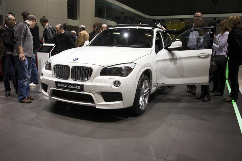BMW X1 xDrive 28i. At the 2011 Geneva Motor Show. Photo taken on: March 04th, 2011 stock images