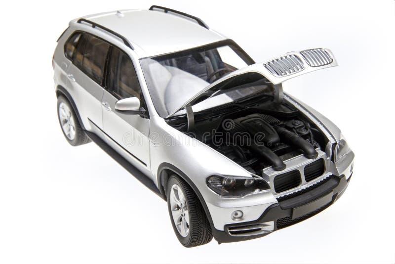 BMW X5 bonnet open stock images