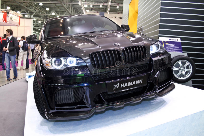 BMW X6 HAMANN. MOSCOW - AUGUST 25: BMW X6 HAMANN at the international exhibition of the auto and components industry, Interauto on August 25, 2011 in Moscow stock photography