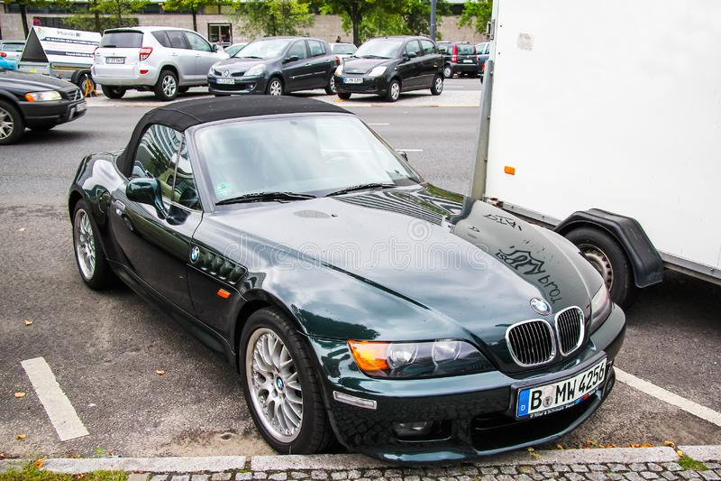 BMW Z3. Berlin, Germany - September 10, 2013: Motor car BMW Z3 E36/7 in the city street royalty free stock photo