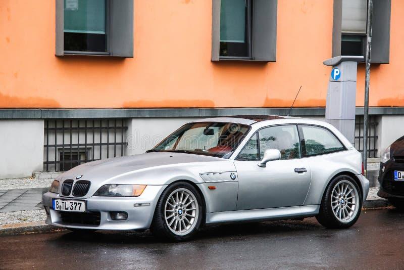 BMW Z3. Berlin, Germany - September 11, 2013: Motor car BMW Z3 E36/8 in the city street stock image