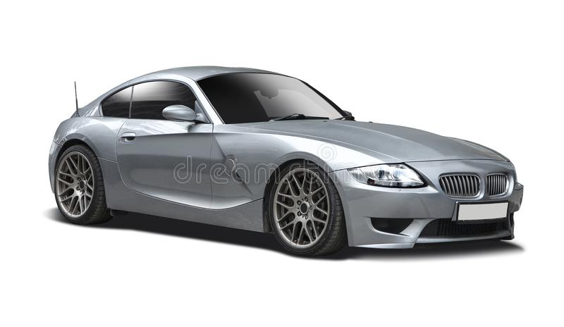 BMW Z4 Roadster. Isolated on white stock photo