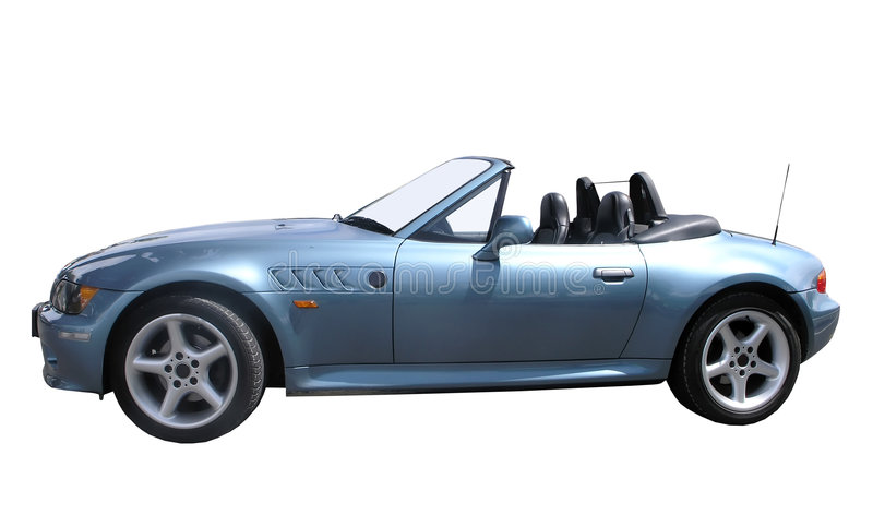 BMW Z3 Roadster. Isolated with clipping path royalty free stock photos