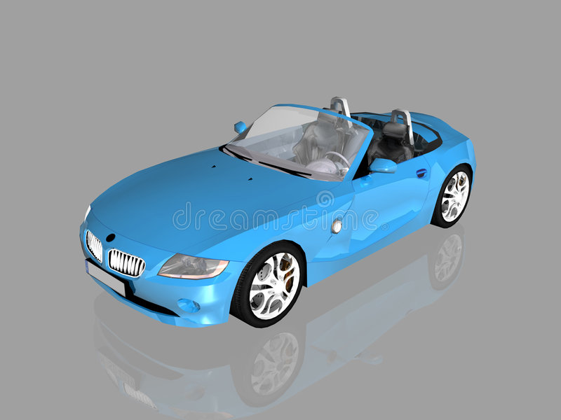 Bmw Z4 2.5 i sportscar. vector illustration