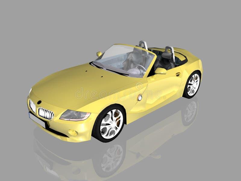 Bmw Z4 2.5 i sportscar. stock de ilustración