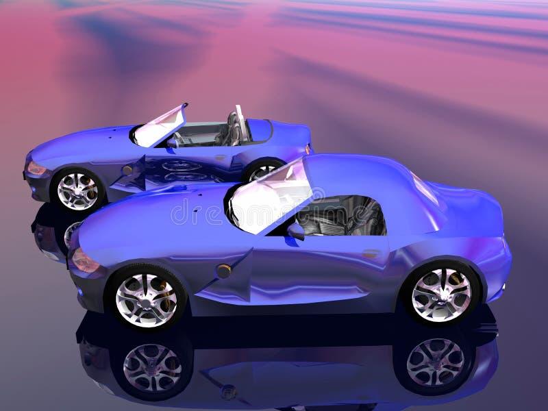 Bmw Z4 2.5 i sportscar. illustrazione di stock