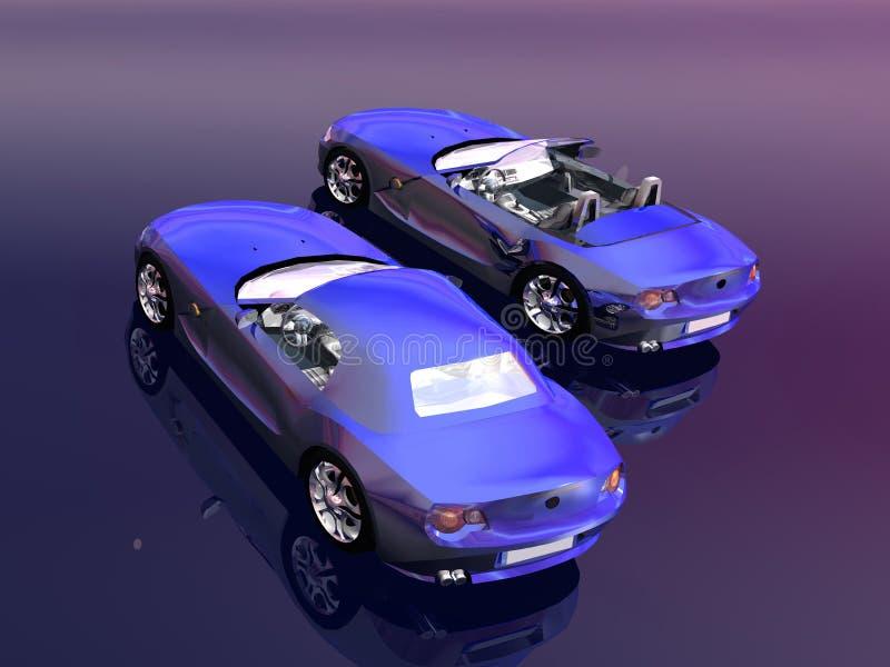 Bmw Z4 2.5 i sportscar. ilustração do vetor