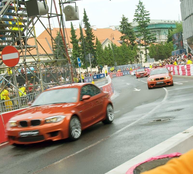 BMWs at Verva Street Racing 2011 royalty free stock photography