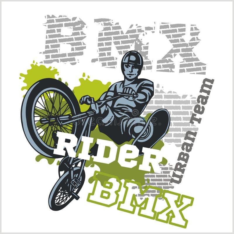 BMX车手-都市队 10个背景设计eps技术向量 皇族释放例证