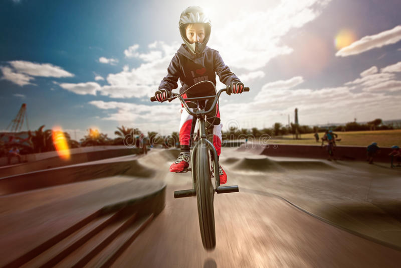 BMX royaltyfri fotografi