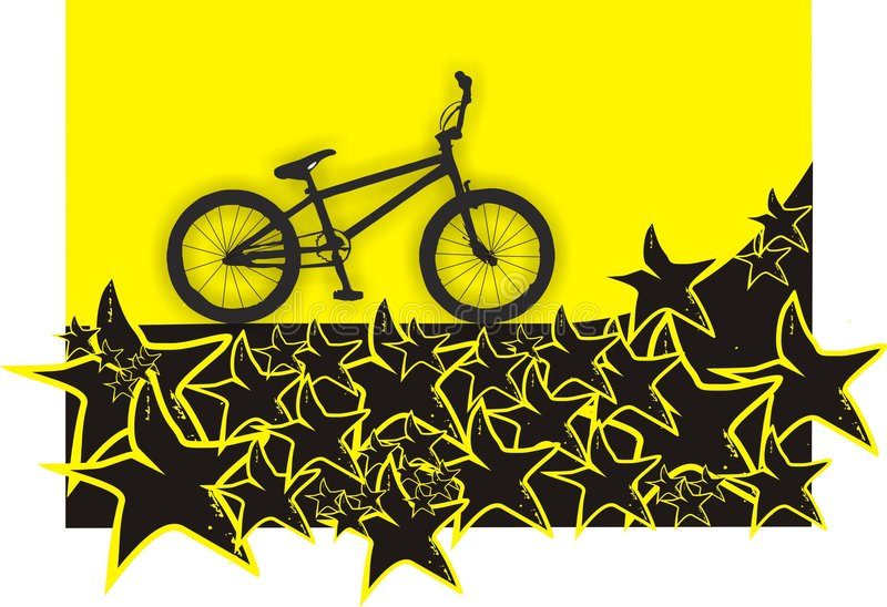Bmx. Bike as a great template - wallpaper. Vector Illustration stock illustration