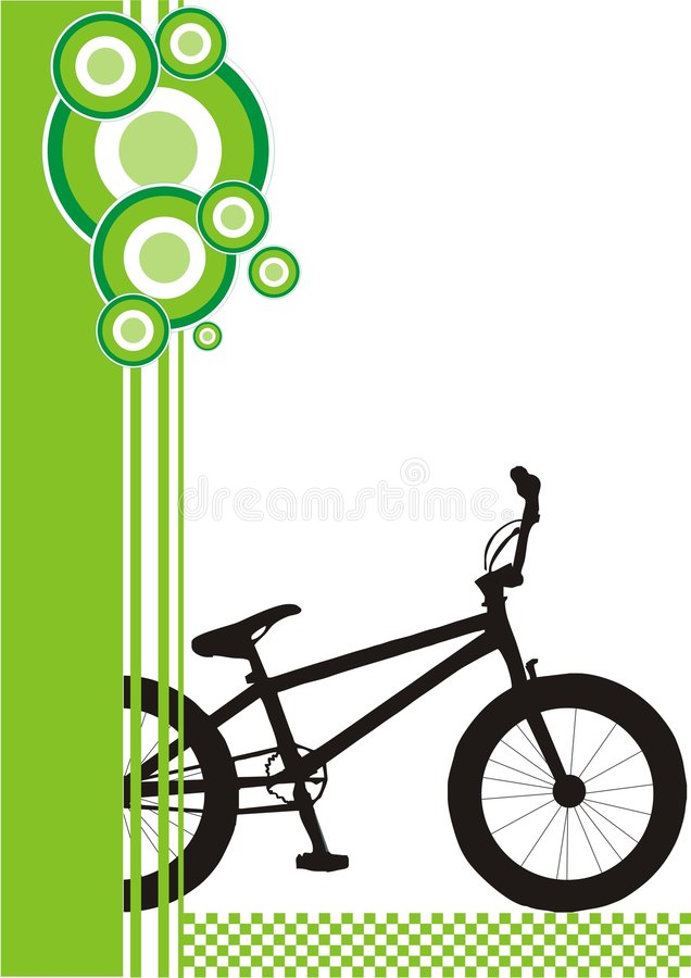 bmx royaltyfri illustrationer