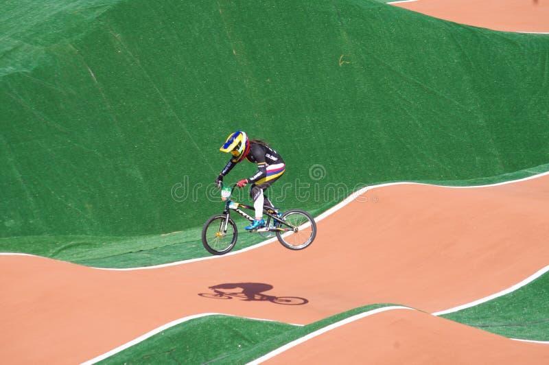 BMX atleta Mariana Pajon fotografia royalty free