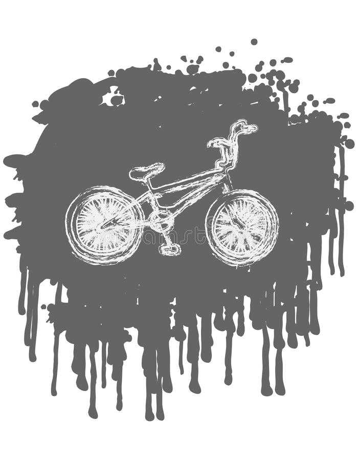 BMX bike. On splash background. vector illustration royalty free illustration