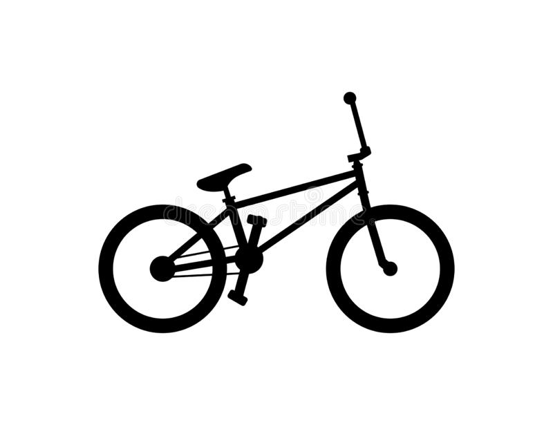 BMX Bike. Isolated on white background vector illustration