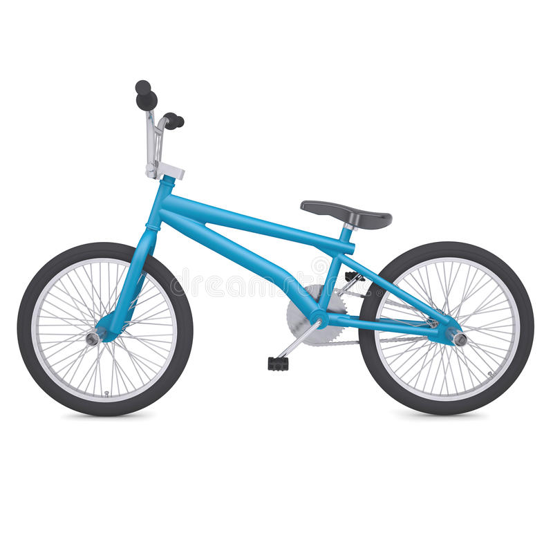 BMX bike. Render on a white background vector illustration